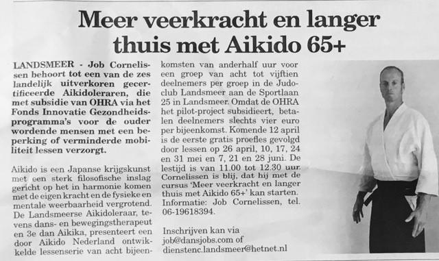 Artikel Aikido 65plus Job Cornelissen